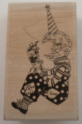 WHIMSICAL LOVESICK MOON STAMPINGTON AND COMPANY WOOD RUBBER STAMP #7307