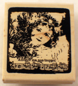 STAMPINGTON AND CO ALLEGRO MA NON TROPPO LITTLE GIRL RUBBER STAMP #K5541