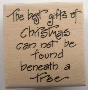 STAMPINGTON & CO THE BEST GIFTS OF CHRISTMAS QUOTE WOOD RUBBER STAMP #C8047
