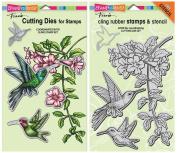 Stampendous Cling Hummingbird Stamp & Die Set - 2 Item Bundle