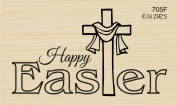 Happy Easter Cross Rubber Stamp By DRS Designs Rubber Stamps