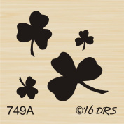 Small Shamrock Group Rubber Stamp By DRS Designs Rubber Stamps