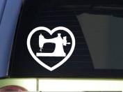 Sewing Machine Heart *I911* 15cm x 15cm sticker decal