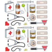 Set of 2 Sheets - Doctor BAND AID Ouch Stickers