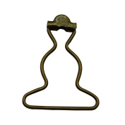 Amanaote 3.2cm Inside Bottom Size Bronze Dungaree Fastener Overall Clip Suspender Buckle Pack of 12