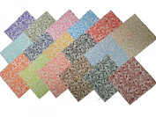 """17 25cm Layer Cake Quilting Fabric Squares """"Serendipity"""" 17 colours- 1 of each colour"""