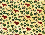1 Yard Marblehead Northern Woods Moose by Ro Gregg from Paintbrush Studios 100% Cotton Quilt Fabric 120-5661