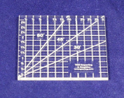 7.6cm Square Ruler -Acrylic 0.3cm Thick. Quilting/sewing
