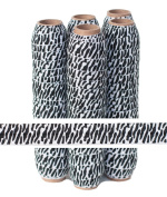 5 Yards of 1.6cm Zebra (Black / White) - Fold Over Elastic - ElasticByTheYardTM