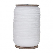 100 Yards of White 1.6cm Fold Over Elastic - ElasticByTheYardTM