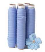 5 Yards of Sleepy Blue - 1.6cm Fold Over Elastic - ElasticByTheYardTM