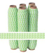 5 Yards of 1.6cm Lime Chevron Fold Over Elastic - ElasticByTheYardTM