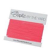 5 Yards of Neon Pink - 0.3cm Skinny Elastic - ElasticByTheYardTM