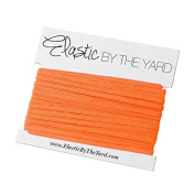 5 Yards of Neon Orange - 0.3cm Skinny Elastic - ElasticByTheYardTM