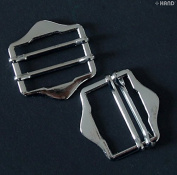 H6525 Silver Tone Shoe Handbag Buckle Size 2.5 - Pack of 20