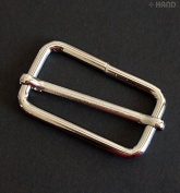 PBS07 Silver Tone Metal Slides Adjustable Pulling Buckles 3cm - Pack of 6
