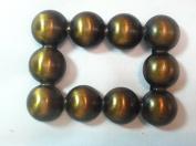 Designer Belt Buckle Plated Bronze Polished 5.1cm Inch Ball square design Buc1