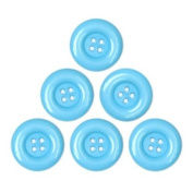 Bright, Glossy Plastic Buttons (34mm) 6-pack