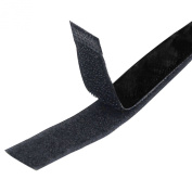 TRIXES 1M Long 20mm Wide Self Adhesive Sticky Back Black Strips Hook and Loop Fastener