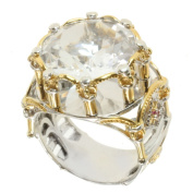 Michael Valitutti Two-tone Rock Crystal and Pink Sapphire Ring
