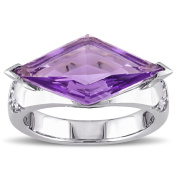 Versace 19.69 Abbigliamento Sportivo SRL Sterling Silver Amethyst-Brazil and White Sapphire Cocktail Ring