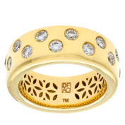 Diamonds For A Cure 18k Yellow Gold 4\5ct TDW Bezel Ring