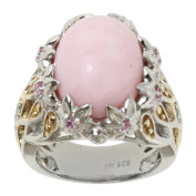 Michael Valitutti Two-tone Pink Opal and Pink and White Sapphire Ring