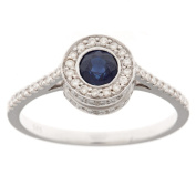 Neda Behnam Diamonds for a Cure 14k Gold Sapphire and 1/3ct TDW Diamond Ring