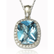 Suzy Levian Simulated Topaz Sterling Silver & 18K Gold Pendant