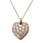 Michael Valitutti Signity 14k Rose Gold Cubic Zirconia Necklace