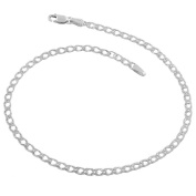 Fremada Italian Sterling Silver 2.9-mm Double Open Curb Link 25cm Anklet