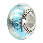 Sterling Silver 'Mesmerise' Murano-style Glass Bead
