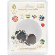 Epiphany Crafts Metal Charm Settings-Heart 25, 5/Pkg