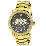 LUXURMAN YELLOW GOLD PLATED WATCHES