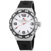 Calibre Lancer Mens White Dial Watch