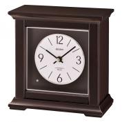 Dark Brown Wooden Musical Desk/Table Clock