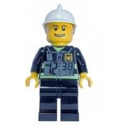 LEGO Kids' 9003844 City Fireman Minifigure Clock