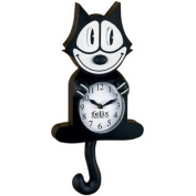 Authentic Cartoon Collectible Felix The Cat Wall Clock w/ Moving Eyes & Tail