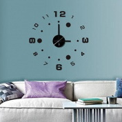 Modern Home Self Adhesive DIY 3D Wall Clock - Compass