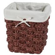 Chunky Weave 2 Waste Basket - Brown