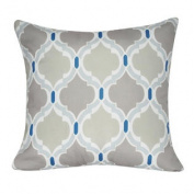 50cm x 50cm Light Blue Damask Decorative Pillow