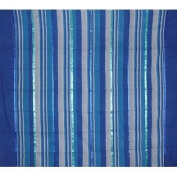 Heavy Cotton Ribbed Bedspread 250cm x 220cm Full Blue