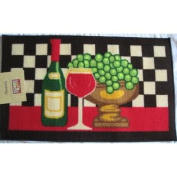 Red Wine Grapes Kitchen Rug Mat