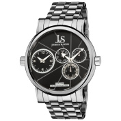 Joshua & Sons Men's Dual Time Stainless Steel Watch