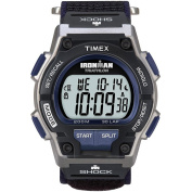 Timex Men's T5K198 Ironman Classic Shock 30-Lap Fast Wrap hook and loop Strap Watch