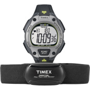 Timex Men's T5K719 Ironman Road Trainer Heart Rate Monitor Black/Grey/Lime Green Watch