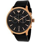 Emporio Armani Men's Classic AR1792 Black Leather Quartz Watch