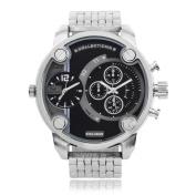 Territory Men's Round Face Quartz Dual Time Watch