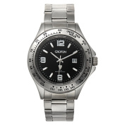 Croton Men's All Stainless Steel Quartz Watch with Date and Tachymeter Bezel