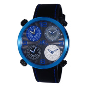 Adee Kaye Men's Beaming Arc Design with 4 Time Zone Timepiece